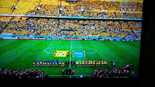Kick off brazil vs kroasia #WorldCup2014 #WorldCup…
