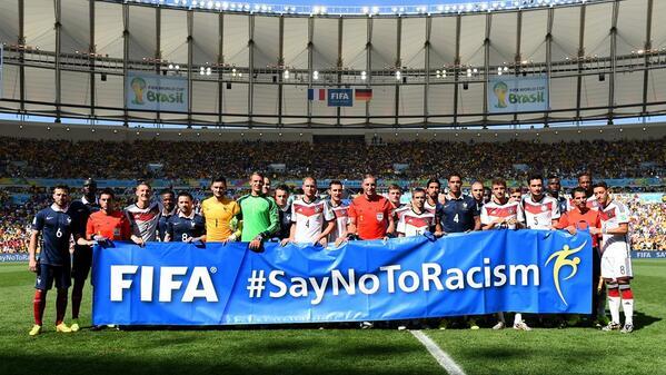 #FRA vs #GER, #SayNoToRacism ane dukung #GER, kamp…