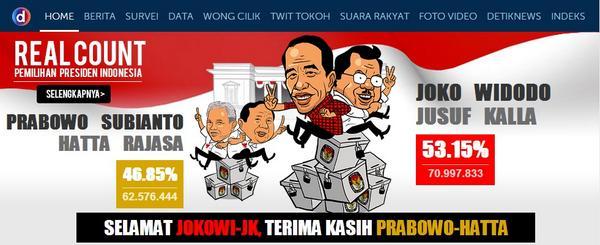 RT @detikcom: SAH! Jokowi-JK ditetapkan sebagai Pr…