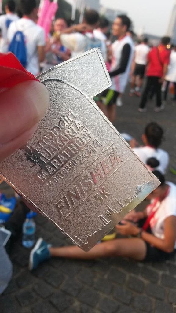 Not badlah untuk hasilnya, finisher #MandiriJakart…