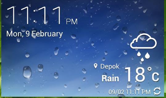 Hujan yg mulai dari malam kemarin masih saja tumpa…
