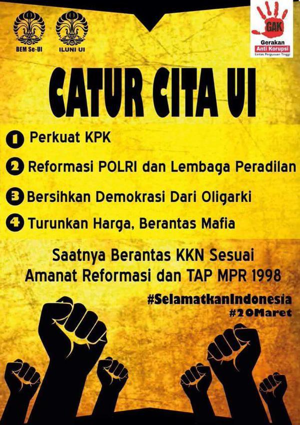 Catur Cita UI #SelamatkanIndonesia #20maret #saveK…