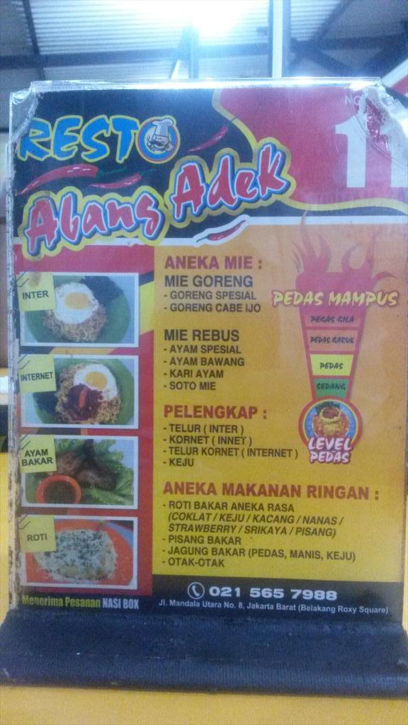 Resto abang adek, indomie serba pedas. #kuliner #r…